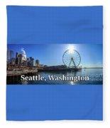 Seattle Washington Waterfront  Fleece Blanket