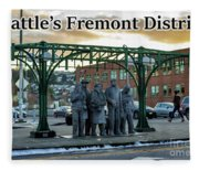 Seattle's Fremont District  Fleece Blanket