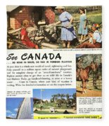 See Canada, So Near In Miles, So Far In Foreign Flavour 1949 Ad By Canadian Government Travel Bureau Fleece Blanket