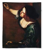 Self Portrait As The Allegory Of Painting 1639 Fleece Blanket