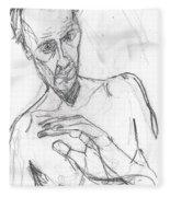 Self-portrait Pencil Reach 11 Fleece Blanket