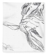 Self-portrait Pencil Reach 2 Fleece Blanket