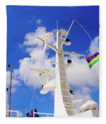 Semi-large Ship's Radar Tower And Headlights. Fleece Blanket