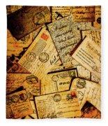Sentimental Writings Fleece Blanket