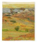 September In The Realm Of West Dakota Fleece Blanket