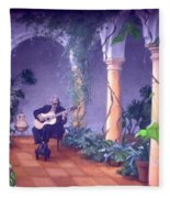 Sergovia In A Spanish Garden Fleece Blanket