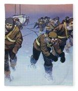 Shackleton In The Antarctic  Fleece Blanket