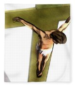 Shadow Of The Cross Fleece Blanket