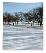 Shadows In The Snow Fleece Blanket