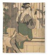 Shadows On The Shoji Fleece Blanket