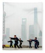 Shanghai Morning Tai Chi Fleece Blanket