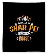 Shar Pei Funny Dog Saying Humor Dogs Gift Fleece Blanket