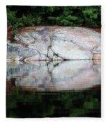 Shawanaga Rock And Reflections Iv Fleece Blanket