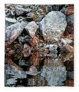 Shawanaga Rock And Reflections Vi Fleece Blanket