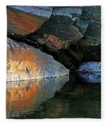 Shawanaga Rock And Reflections Xi Fleece Blanket