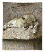 She Lion Fleece Blanket