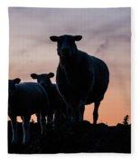 Sheep Family Fleece Blanket