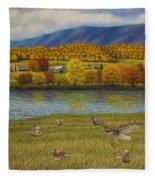 Shenandoah Valley Hawk Fleece Blanket