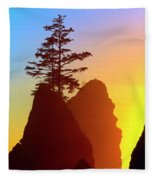 Shi Shi Sea Stacks Fleece Blanket
