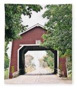 Shimanek Covered Bridge Fleece Blanket