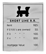 Short Line R.r. Fleece Blanket