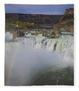 Shoshone Falls Rainbow Fleece Blanket