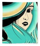 Shy Girl Fleece Blanket