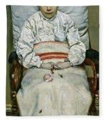 Sick Girl, 1881 Fleece Blanket