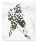 Sidney Crosby Pittsburgh Penguins Pixel Art 23 Fleece Blanket