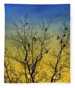 Silhouette Birds Sequel Fleece Blanket