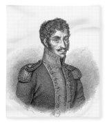 Simon Bolivar Venezuelan Statesman, Soldier, And Revolutionary Leader Fleece Blanket