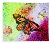 Sincere Beauty Fleece Blanket