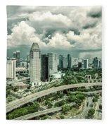 Singapore Fleece Blanket by Chris Cousins