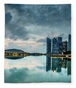 Singapore Lighst Fleece Blanket by Chris Cousins