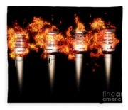 Singeing Stage Show Fleece Blanket