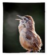 Singing Wren Fleece Blanket