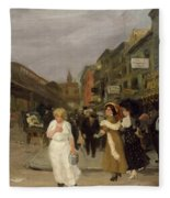 Sixth Avenue And Thirtieth Street, New York City, 1907 Fleece Blanket