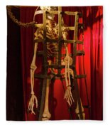 Skeleton  In Torturedevise Fleece Blanket