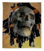 Skull - 9 Fleece Blanket