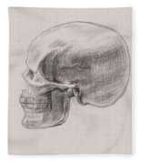 Skull Study Profile Fleece Blanket