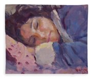 Sleeping Lady Fleece Blanket