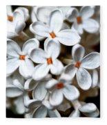 Small White Flowers Digital Fleece Blanket