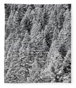Snow On Evergreens Fleece Blanket