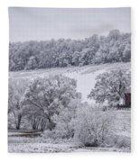 Snow Scene Fleece Blanket