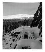 Snow Trellis Fleece Blanket