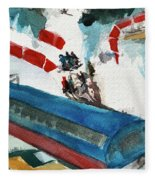 Snowbird Lift Study Fleece Blanket