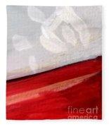 Snowflake With Red Fleece Blanket