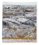 Snowy Dakota Fleece Blanket