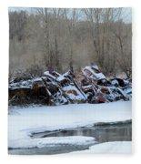 Snowy Graveyard Fleece Blanket