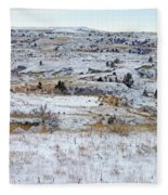 Snowy Slope County Fleece Blanket